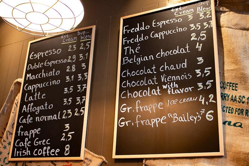 BEL 20 Urban Coffee & Bar menu