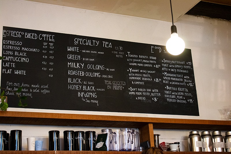 OR Coffee menu