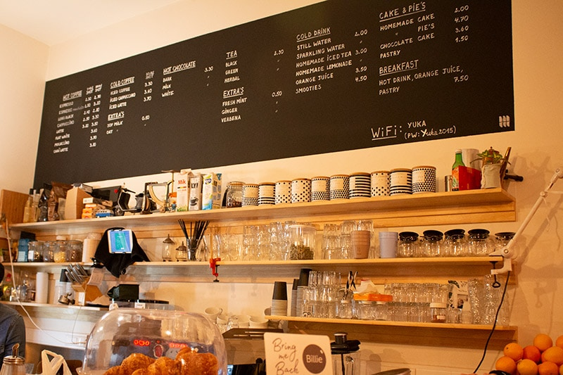 Yuka Espresso Bar menu