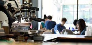 espresso machine in coffee shop